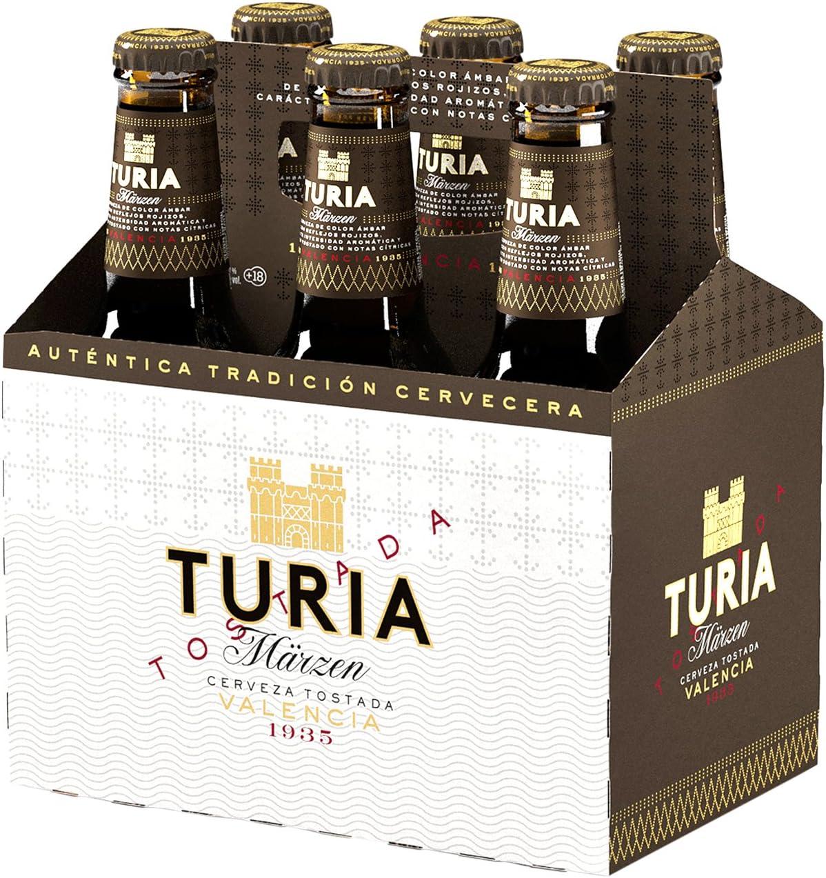 Cerveza Tostada Turia Märzen Cesta de 6 Botellas 25cl: Amazon.es ...