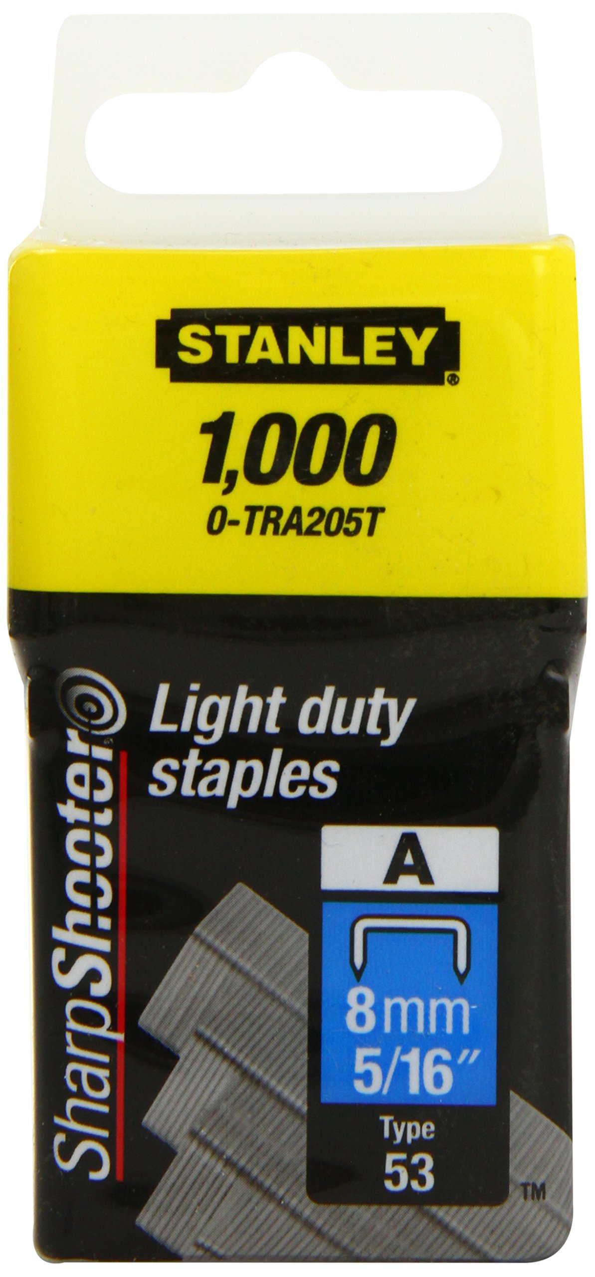 Stanley - Light-Duty Staple 8Mm (1000) 0-Tra205T by Stanley Tools