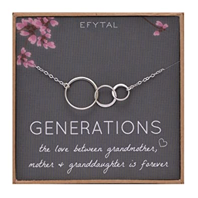 Amazon EFYTAL Generations Necklace For Grandma Gifts