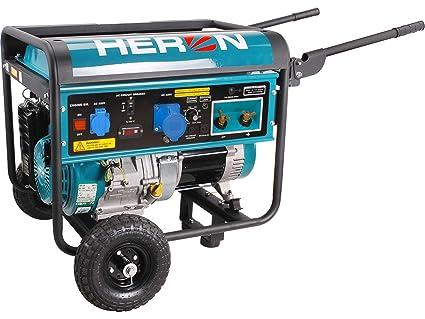 HERON Generador de energía de soldadura 220A, gasolina 14HP, 5,5kW, EWH
