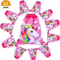Unicorn Gift Bags Unicorn Party Bags Drawstring Shoulder Backpack for Unicorn Party Favor Supplies Girl /Kid Holiday Party