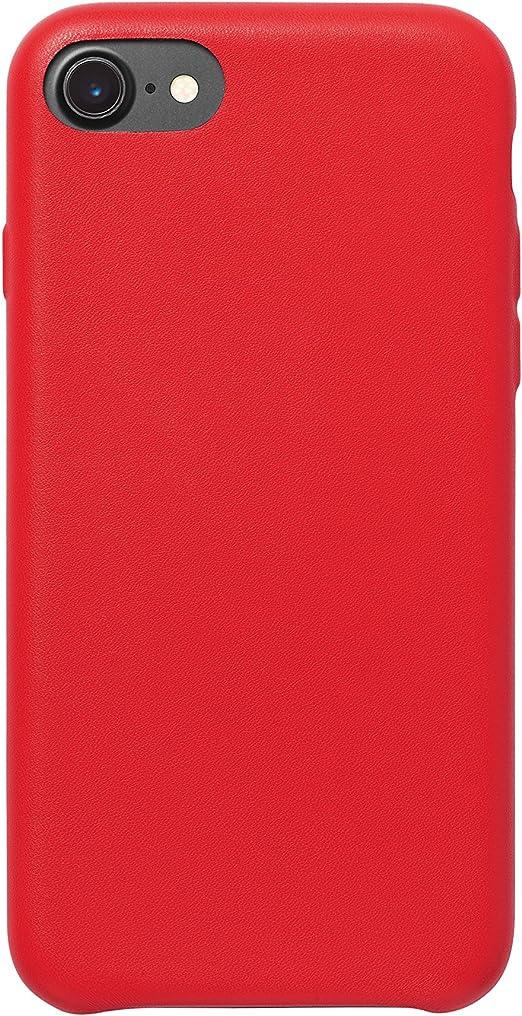 AmazonBasics Coque de protection fine en PU pour iPhone 7, Rouge ...