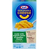 Kraft Original Flavor Macaroni and Cheese with Organic Pasta Dinner (6 oz Boxes, Pack of 12)