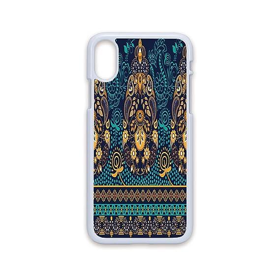 4aaeae9e3cf50 Amazon.com  Phone Case Compatible with iPhone X White Edge 2D Print ...