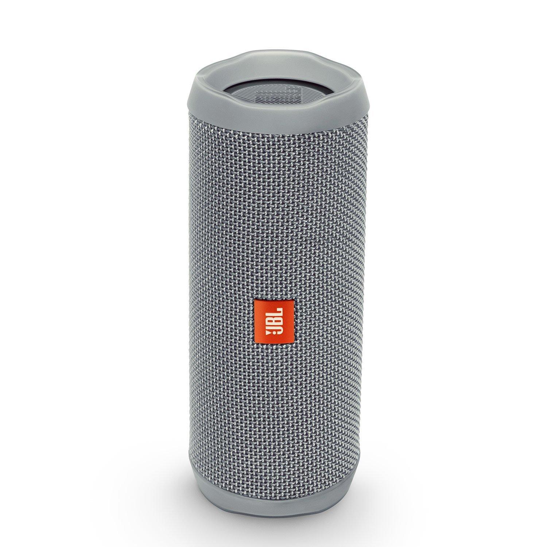 JBL FLIP 4 IPX7 Waterproof Wireless Portable Bluetooth Rechargeable USB Speaker (Gray) (Renewed)