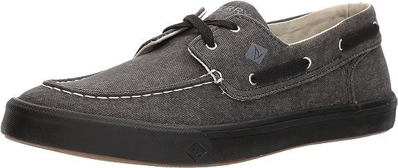 TALLA 45 EU. Sperry Bahama II Boat Washed Black, Zapatos de Vela. Hombre
