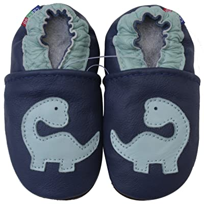 Carozoo Shoeszoo Boys' Dinosaur Soft Sole Leather baby/toddler/kid Shoes