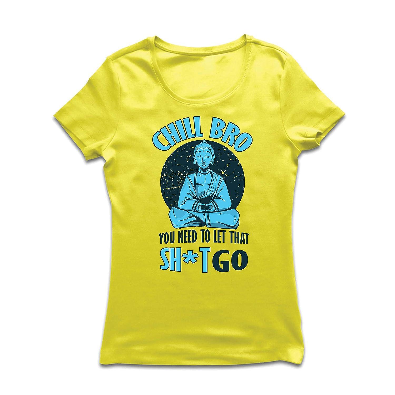 lepni.me Camiseta Mujer Relájate Hermano, Yoga, Buda ...