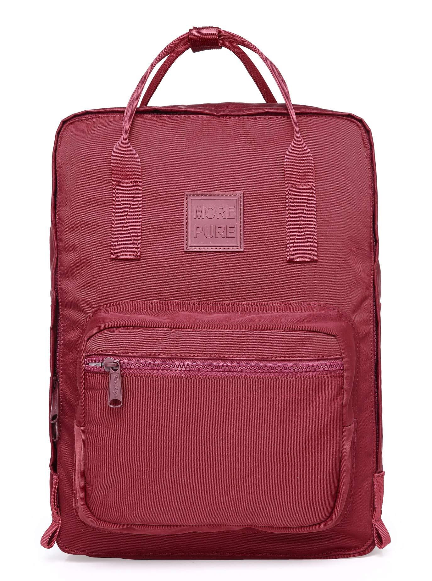 MOREPURE 233s Lightweight Travel Backpack | Fits 15-inch MacBook | 14.5''x10.6''x4.7'' | Marron