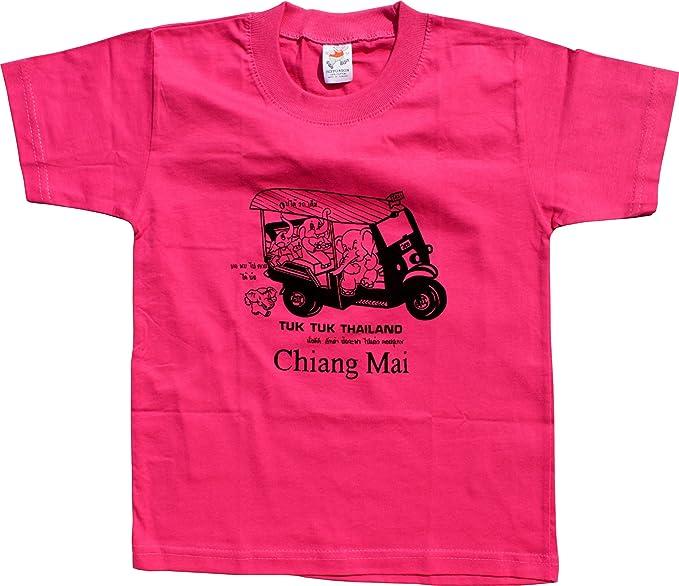 b918e960b Image Unavailable. Image not available for. Color  RaanPahMuang Brand  Cotton Child Shirt Tuk Tuk Elephant ...