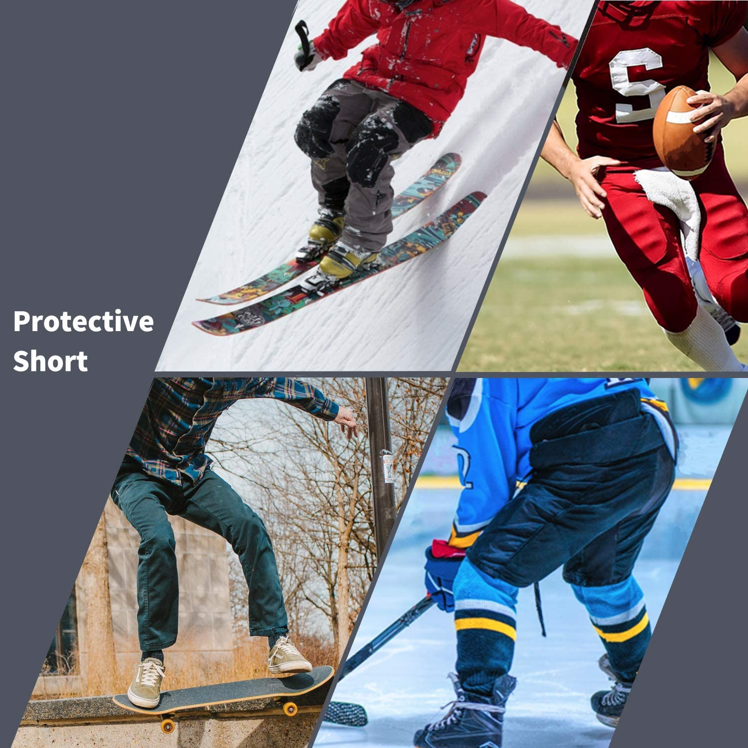 TFO Protective Padded Shorts Breathable Durable for Skateboard Snowboard