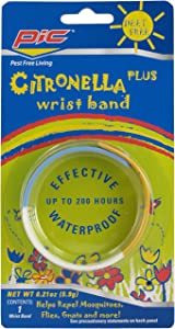 PIC BAND Citronella Wristband to Keep Away from Bugs, 10-Percent Citronella