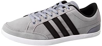 buy popular f8d5d d8590 adidas neo Men s Caflaire Grey, Cblack and Msilve Leather Sneakers - 11  UK India