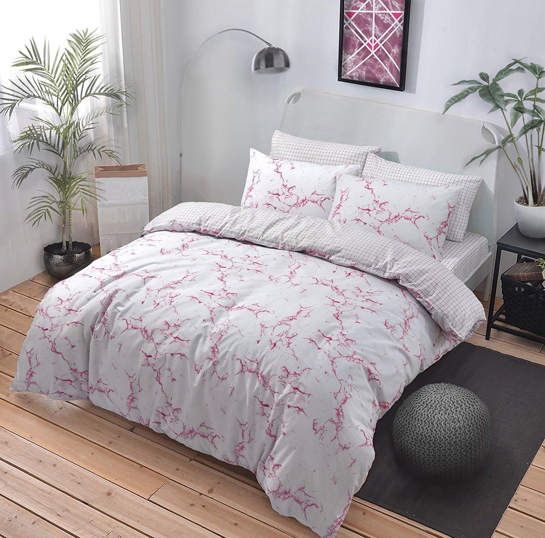 king cover pink duvet marimekko set unikko grey