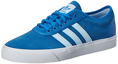 adidas Originals Men's Adi-Ease Blubir, Iceblu and Ftwwht Leather Sneakers  - 11 UK