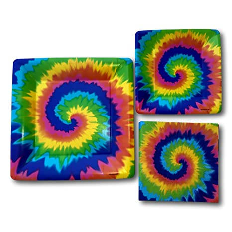 Tie Dye Themed Psychedelic Birthday Party Paper Plates and Napkins Party Supply Bundle - Tableware Set  sc 1 st  Amazon.com & Amazon.com: Tie Dye Themed Psychedelic Birthday Party Paper Plates ...