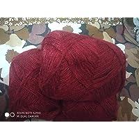 3 PLY Knitting Wool Yarn_Pack 4_100 Gram Each_Mahroon_Color