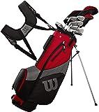 Wilson Golf Profile SGI - Conjunto de Accesorios para Hombre, Mano Derecha, Negro/Rojo, Largo
