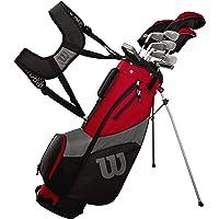 Wilson Golf Profile SGI - Conjunto de Accesorios para Hombre, Mano Derecha, Negro/Rojo, Regular