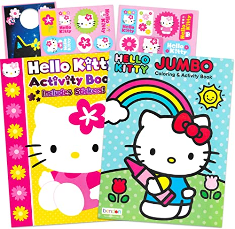 Hello Kitty-Coloring Stickers Activity Books Party kids Gift Xmas
