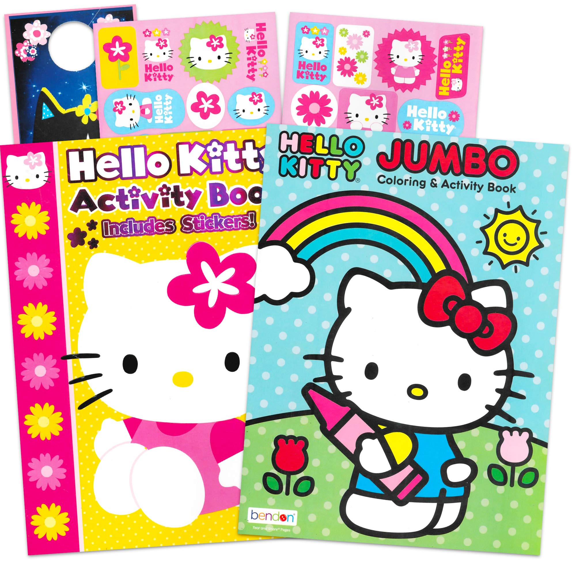HUB Studios Hello Kitty Coloring Book and Stickers Super Set~ Hello Kitty Coloring Book with Hello Kitty Stickers & Specialty Door Hanger