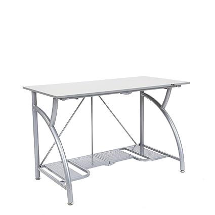 Amazon Origami Foldable Computer Desk Silver Home Improvement