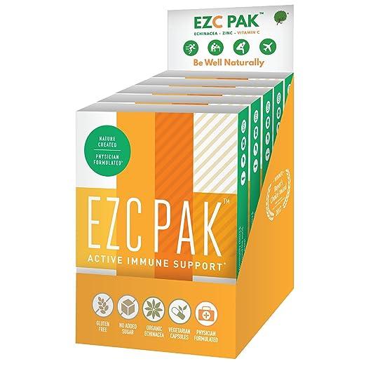 EZC Active Pak with Organic Echinacea and Vegetarian Capsules