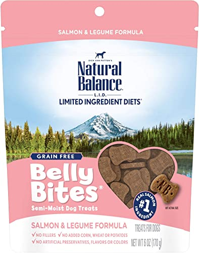 Natural Balance Belly Bites Semi Moist Dog Treats, 6 Ounce Bags, Grain Free Packaging May Vary