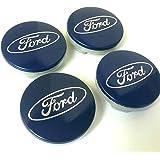 Juego de 4 tapas de Ford Llantas Mediados De Buje 54 mm protectora Blue Plata Logo Cilindro de nadadores KA Kuga…
