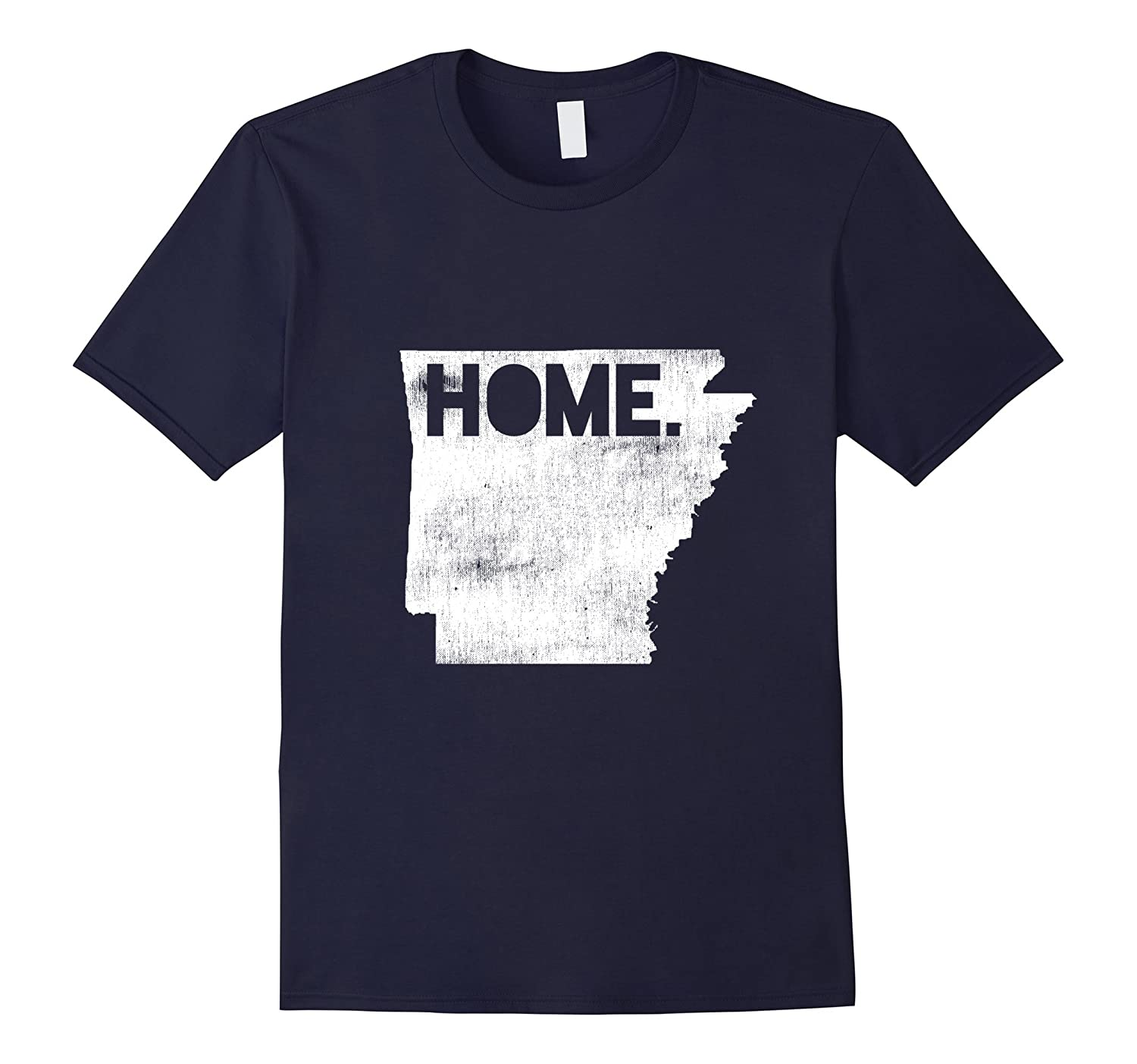 Arkansas Shirt - Vintage State Outline with 'HOME'-T-Shirt