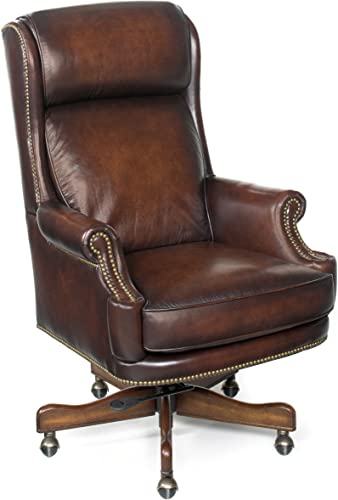 Hooker Furniture Kevin Executive Swivel Tilt Chair, Brown