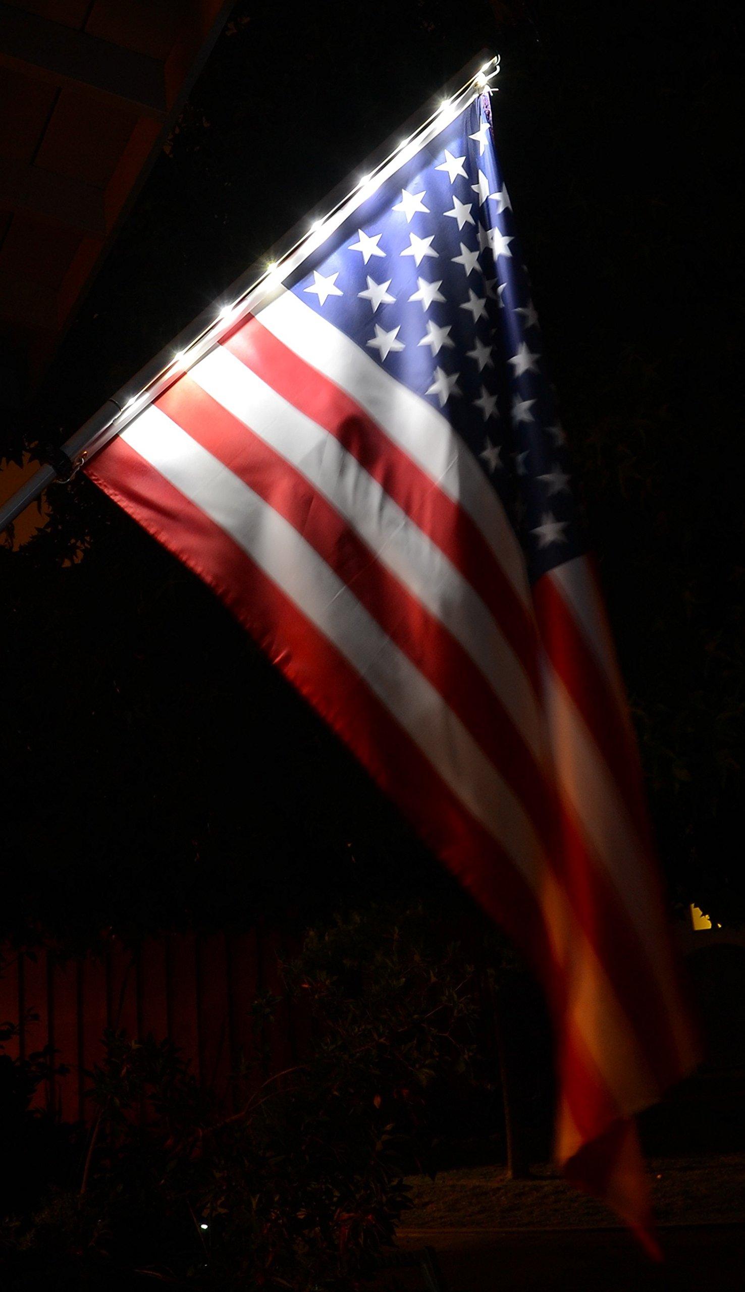 Solar Night Flag with Pole