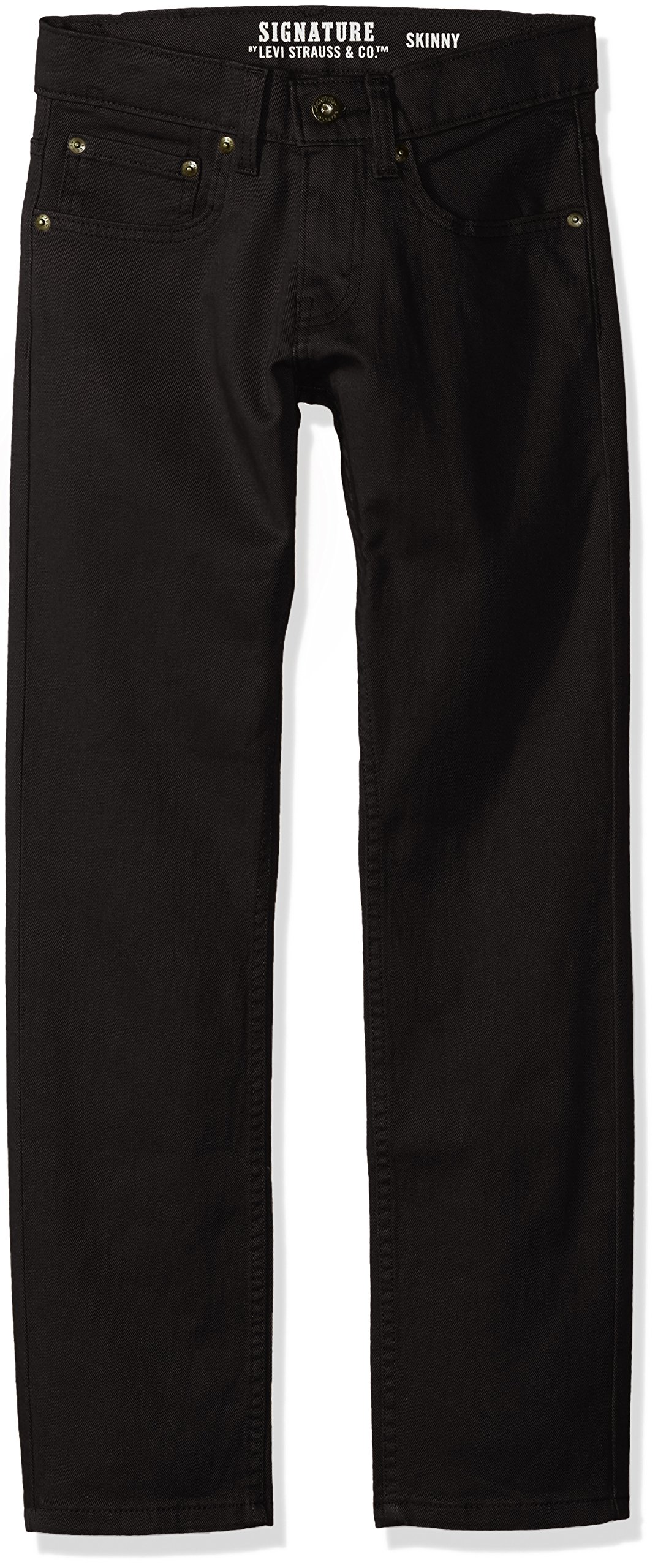 Signature by Levi Strauss & Co. Gold Label Big Boys' Slim Straight Fit Jeans, Raven, 8