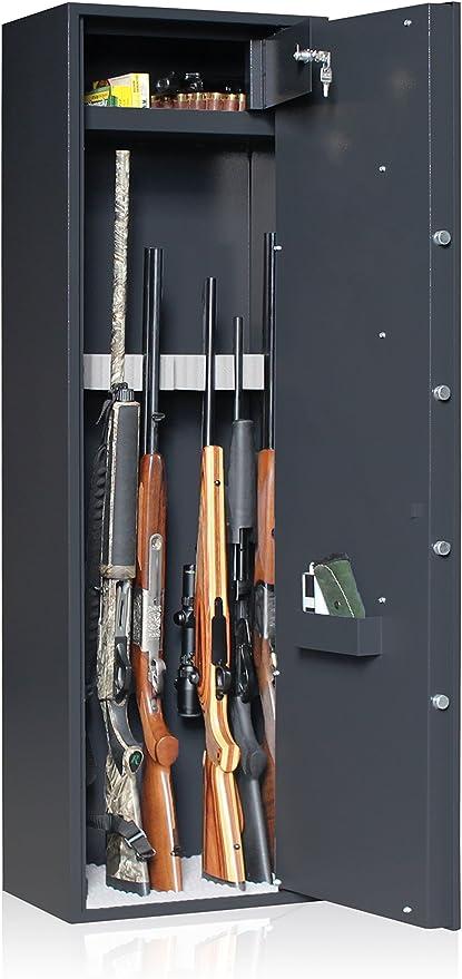 Elite Reload - Armario de seguridad para 8 armas + caja fuerte: Amazon.es: Deportes y aire libre