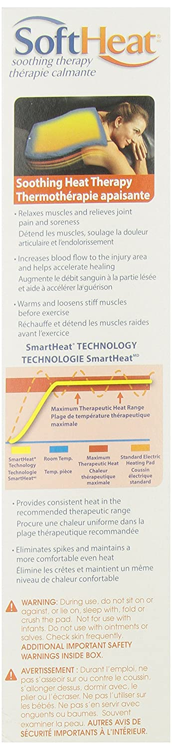 MaxHeat by SoftHeat Heating Pad Moist/Dry, 12-Inch by 24-Inch by ...