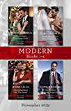 Modern Box Set 1-4/His Contract Christmas Bride/Bride Behind the Billion-Dollar Veil/Christmas Baby for the Greek/The Italian's Christma (Conveniently Wed!)