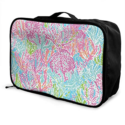 a21bf7b77257 Amazon.com: Mintslove Fashion Portable Luggage Bag Cute Coral Funny ...
