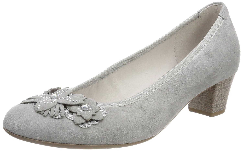 Gabor Shoes Gabor Basic, Zapatos de Tacón para Mujer 39 EU|Gris (Stone)