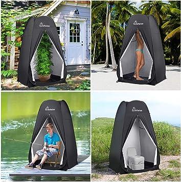 WolfWise Tienda De Campaña Pop Up Tiendas instantáneas Carpas Vestidor Vestuario Espacioso para Camping Ciclismo Baño Ducha Playa