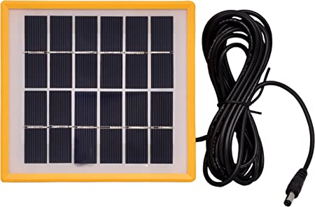 SunamS Premium Quality Portable 2W Solar Panel L-SP22 with Hook for Wall Mount Potable Stand and Portable Stand to Tilt The Solar Panel.
