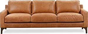 POLY & BARK Sorrento Sofa in Full-Grain Pure-Aniline Italian Tanned Leather in Cognac Tan