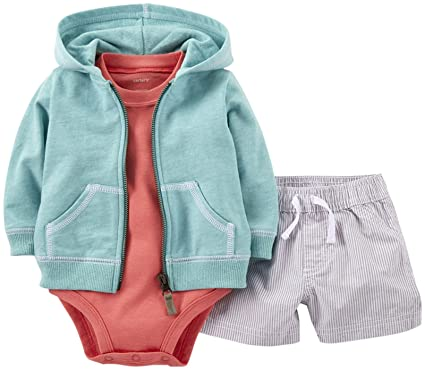 2df2c3f001b6 Amazon.com  Carter s Baby Boys  3 Piece Hooded Cardigan Set (Baby ...