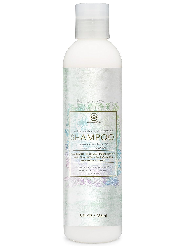 Extra Nourishing & Hydrating Shampoo 8oz Premium Sulfate Free Moisturizing Hair Shampoo for Luxurious Healthier Hair With Argan Oil Kiwi Kukui Moringa Seed & More for Thin Frizzy Dry Hair