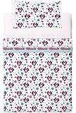 Disney Minnie Love And Spots - Juego de sábanas de 3 piezas para cama de 105 cm