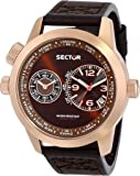 Sector Men's Quartz Watch with Black Dial Analogue Display and Brown Leather Strap R3271602007