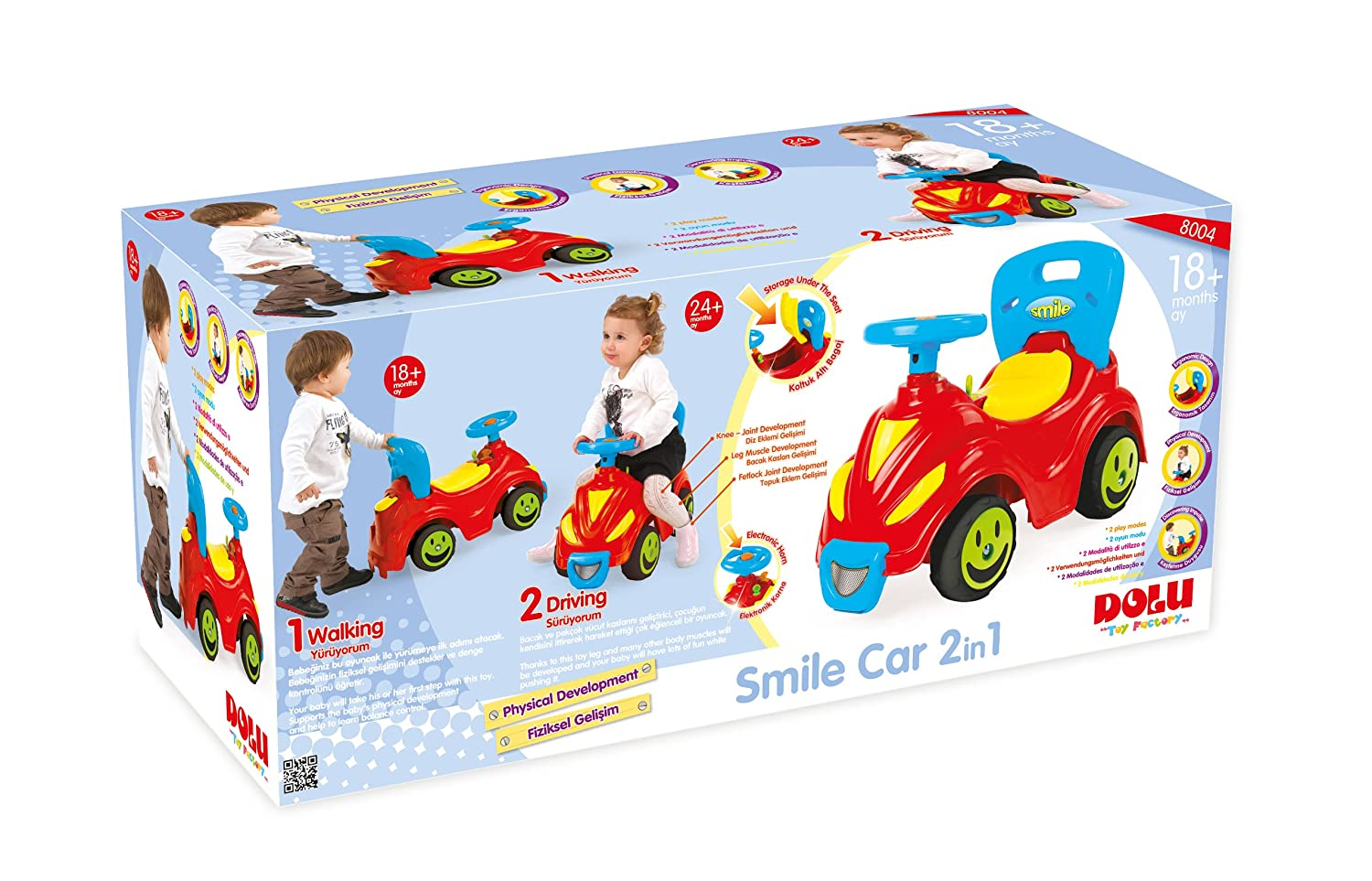 Smile Car 2 in 1 Walker & Driving Dolu