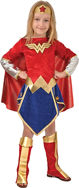 Ciao Wonder Woman Costume Bambina Originale DC Comics ...