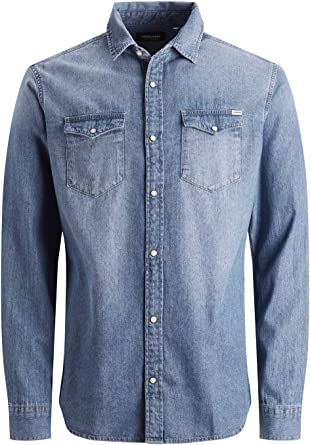 Comprar Jack & Jones Jjesheridan Shirt L/S Camisa Vaquera para Hombre Talla XXL