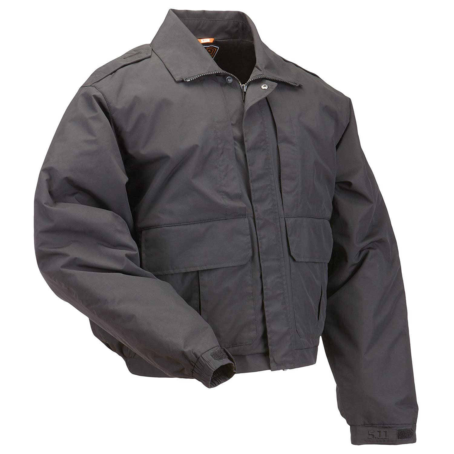 5.11 Mens Tactical Double Duty Police/Patrol Jacket with Badge Tab Kit, Style 48096