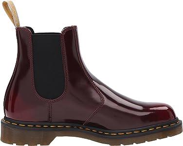 Dr Martens Vegan 2976 Dealer Slip On Boot Cherry Red Oxford Brush /& Black Felix